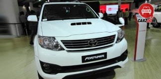 Auto Expo 2014 Toyota Fortuner facelift