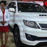 Auto Expo 2014 Toyota Fortuner facelift Exteriors Overall