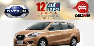 Auto Expo News & Updates - Datsun to Showcase Datsun GO Plus