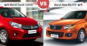Maruti Suzuki Celerio Vs Maruti Suzuki Alto K10 Compare