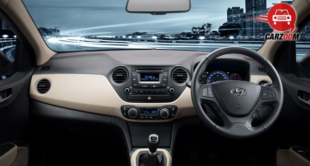 Hyundai Xcent Interiors Dashboard