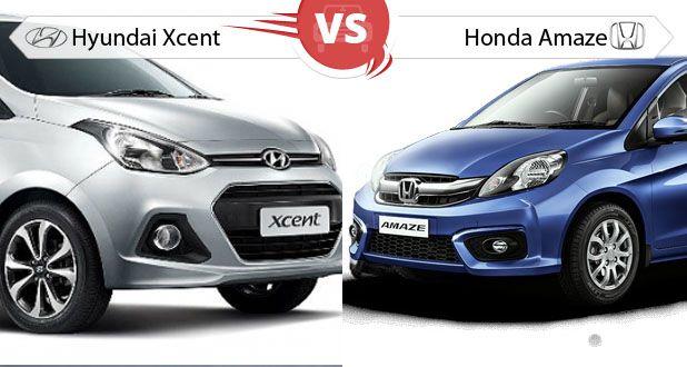 Hyundai Xcent vs Honda Amaze