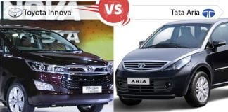 Comparison of New Tata Aria vs Toyota Innova