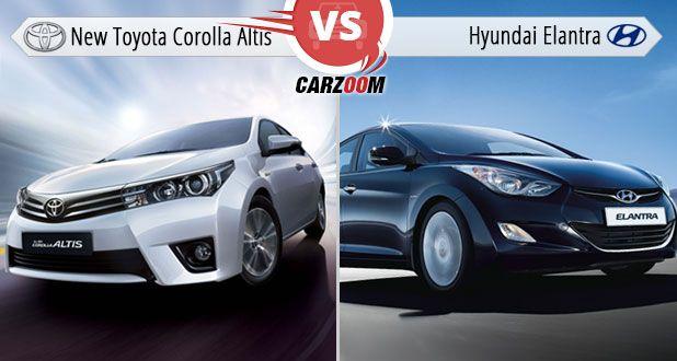 New Toyota Corolla Altis Vs Hyundai Elantra