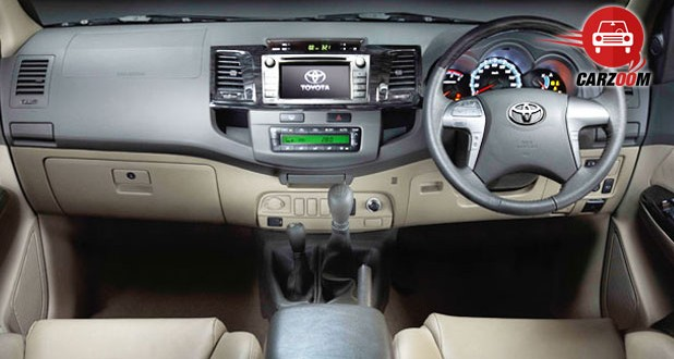 Toyota Fortuner Interiors Dashboard