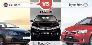 Fiat Linea vs Honda City vs Toyota Etios