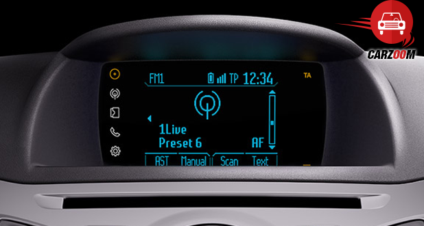 Ford Fiesta SYNC display screen