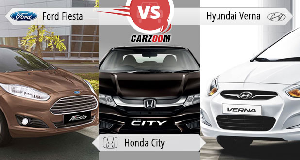 Ford Fiesta vs Honda City vs Hyndai Verna