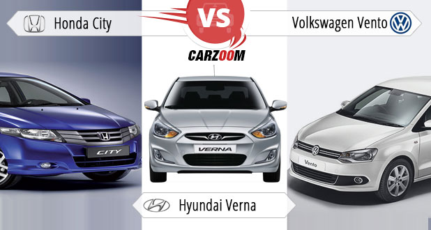 Honda City Vs Hyundai Verna Vs Volkswagen Vento Photos