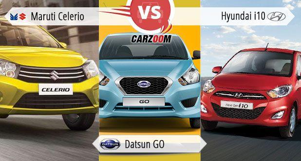 Maruti Celerio vs Datsun-GO vs Hyundai i10