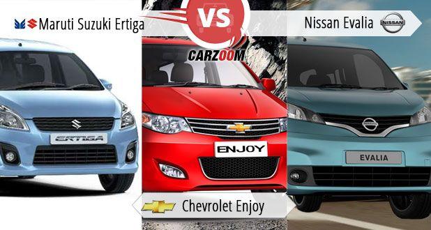 Maruti Suzuki Ertiga vs Chevrolet Enjoy vs Nissan Evalia