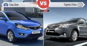 Tata Zest Vs Toyota Etios