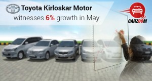Toyota Kirloskar Motor witnesses 6 percent growth in May