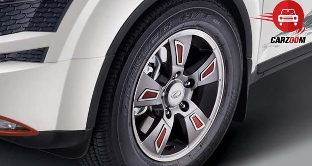 unique alloy wheels with Signature Red Inserts