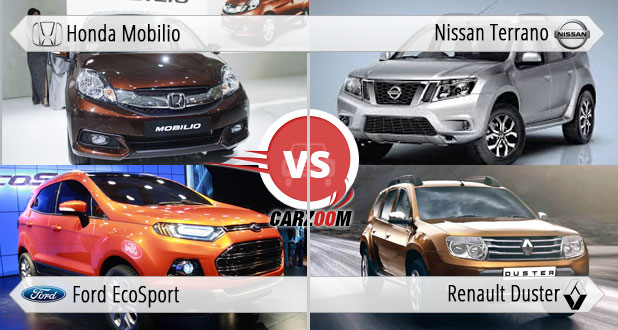 Honda Mobilio vs Renault Duster vs Nissan Terrano vs For EcoSport