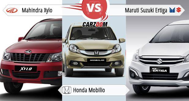 Mahindra Xylo vs Honda Mobilio vs Maruti Suzuki Ertiga