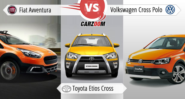 Fiat Avventura Vs Toyota Etios Cross Vs Volkswagen Cross Polo