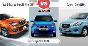 Maruti Suzuki New Alto K10 Vs Hyundai Eon Vs Datsun Go