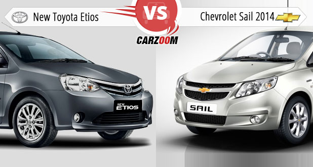 Toyota Etios vs Chevrolet Sail 2014