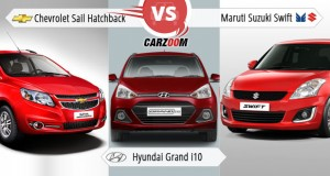 Sail Hatchback vs Hyundai Grand i10 vs Maruti Suzuki refresh Swift