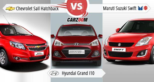 Sail Hatchback vs Hyundai Grand i10 vs Maruti Suzuki refresh Swift
