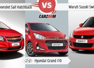 Comparison of Sail Hatchback vs Hyundai Grand i10 vs Maruti Suzuki refresh Swift