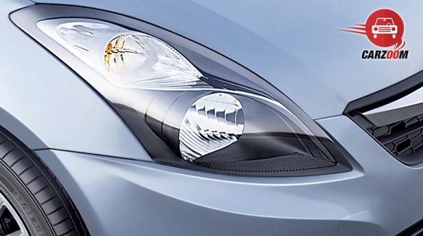 Maruti Suzuki Refreshed Swift Dzire Exteriors Headlamps with New Look
