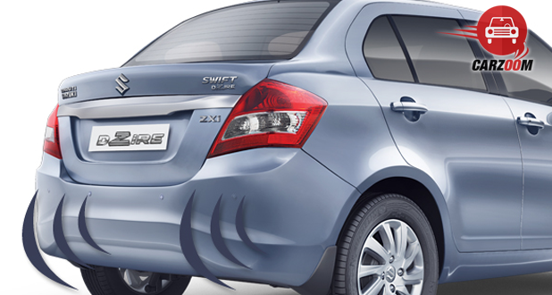 Maruti Suzuki Refreshed Swift Dzire Exteriors Reverse Parking Sensor