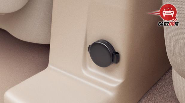 Maruti Suzuki Refreshed Swift Dzire Interiors Rear accessory socket