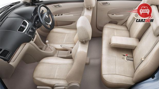 Maruti Suzuki Refreshed Swift Dzire Interiors Seats