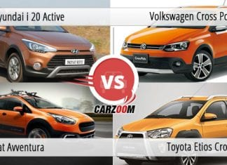 Hyundai i20 Active vs Fiat Avventura Vs Toyota Etios Cross Vs Volkswagen Cross Polo