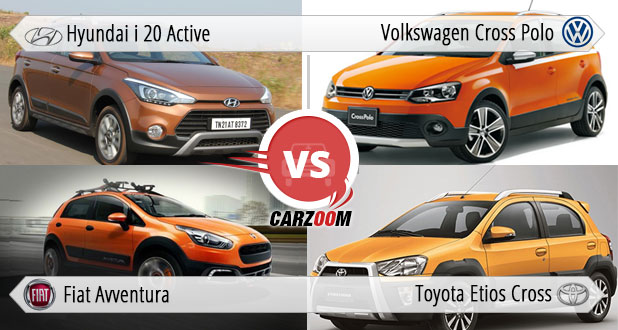 Hyundai i20 Active vs Fiat Avventura Vs Toyota Etios Cross Vs Volkswagen Cross Polo