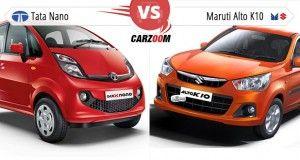 Tata GenX Nano AMT vs Maruti Alto K10 AMT