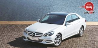 Mercedes Benz E Class Exterior Front and Side View