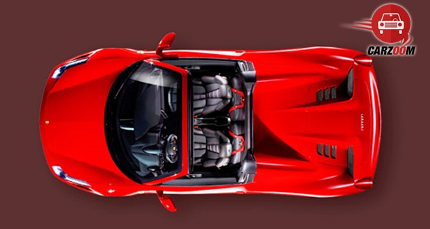 Ferrari 458 Spider Open Top View
