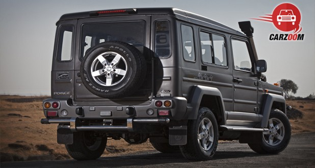 Force Motors Gurkha Hard Top Back View