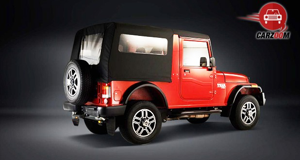 Mahindra Thar CRDe Exterior Back and Side View