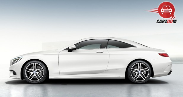Mercedes-Benz S-Class Coupe Side View White