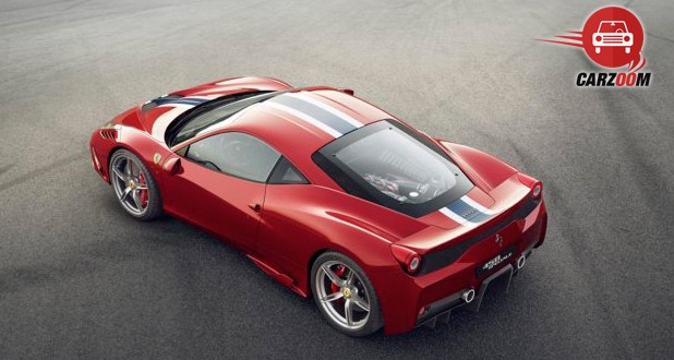 Ferrari 458 Speciale Exterior Top and Back View