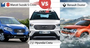 Maruti Suzuki S-cross vs Hyundai Creta vs Renault Duster