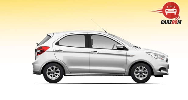 Ford Figo Side View White Color