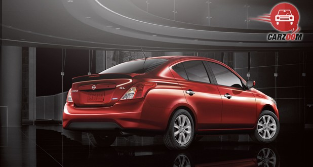 Nissan Versa Exterior Back and Side View