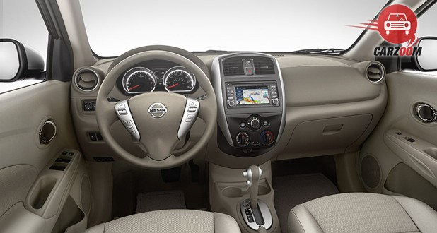 Nissan Versa Interior Dashboard View