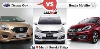 Datsun Go Plus vs Honda Mobilio vs Maruti Suzuki Ertiga