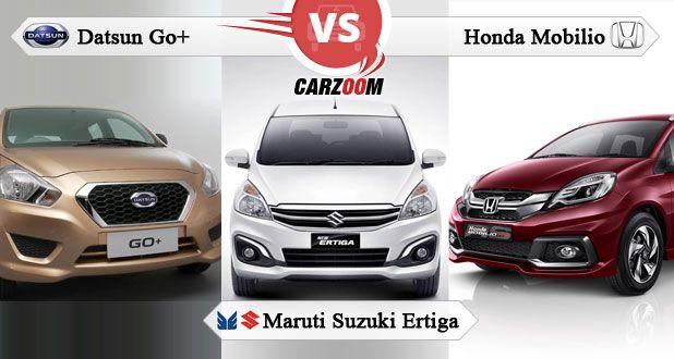 Compare Datsun Go Plus vs Honda Mobilio vs Maruti Suzuki ...