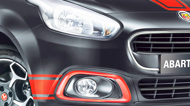 Fiat Abarth Punto Headlight View
