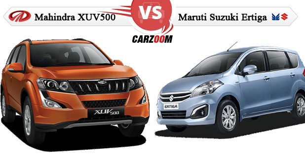 Maruti Ertiga Vs Mahindra Xuv500 Compare Specifications