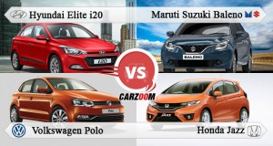 Maruti Suzuki Baleno vs Hyundai Elite i20 vs Honda Jazz vs Volkswagen Polo