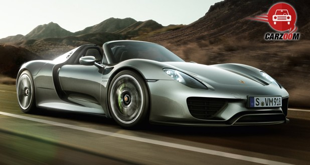 Porsche 918 Spyder Front and Side View