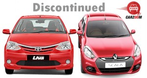 Toyota Etios Liva Sportivo and Renault Scala CVT Discontinued